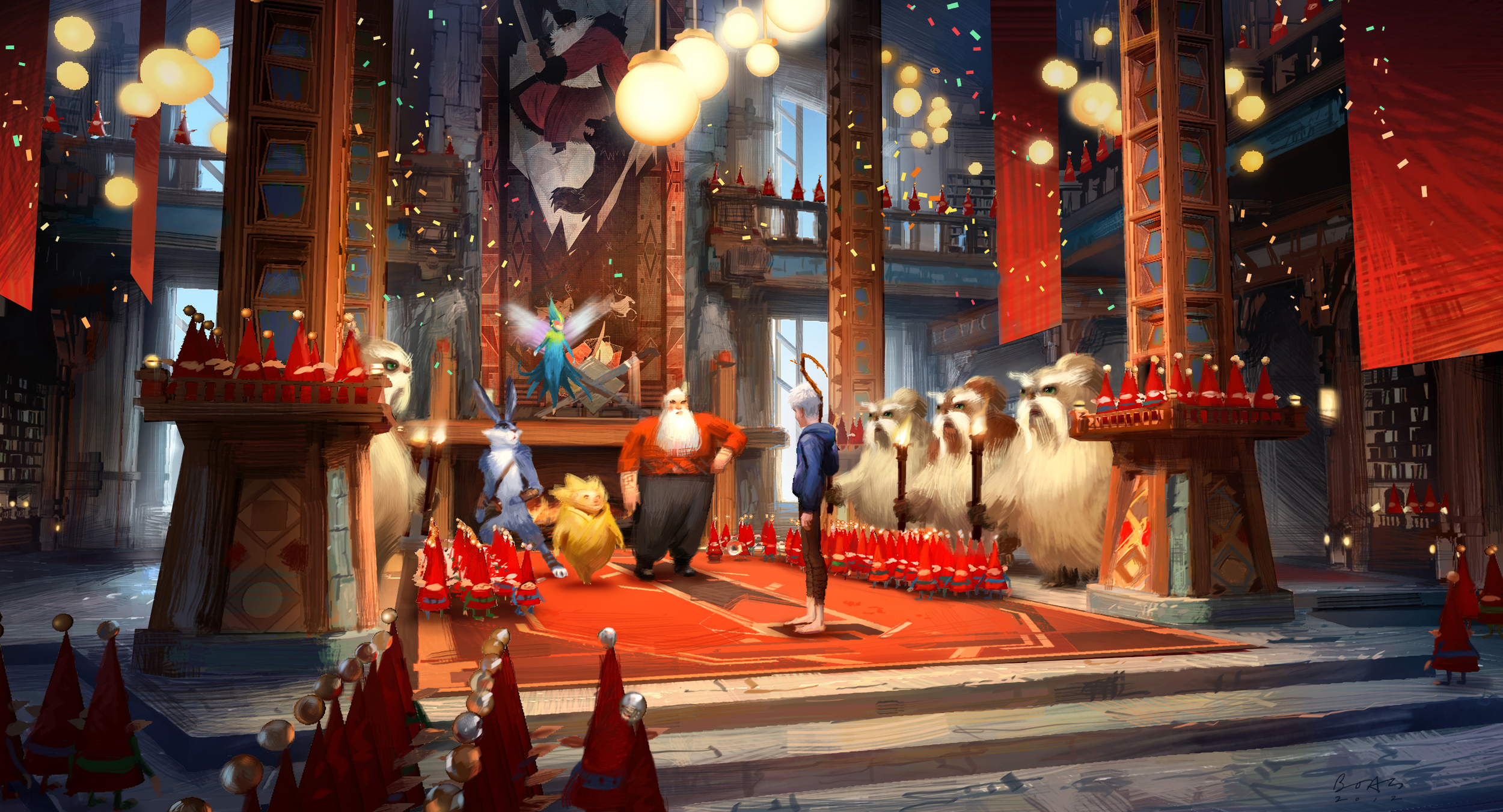 Rise of The Guardians, DWA Color key - North's globe room