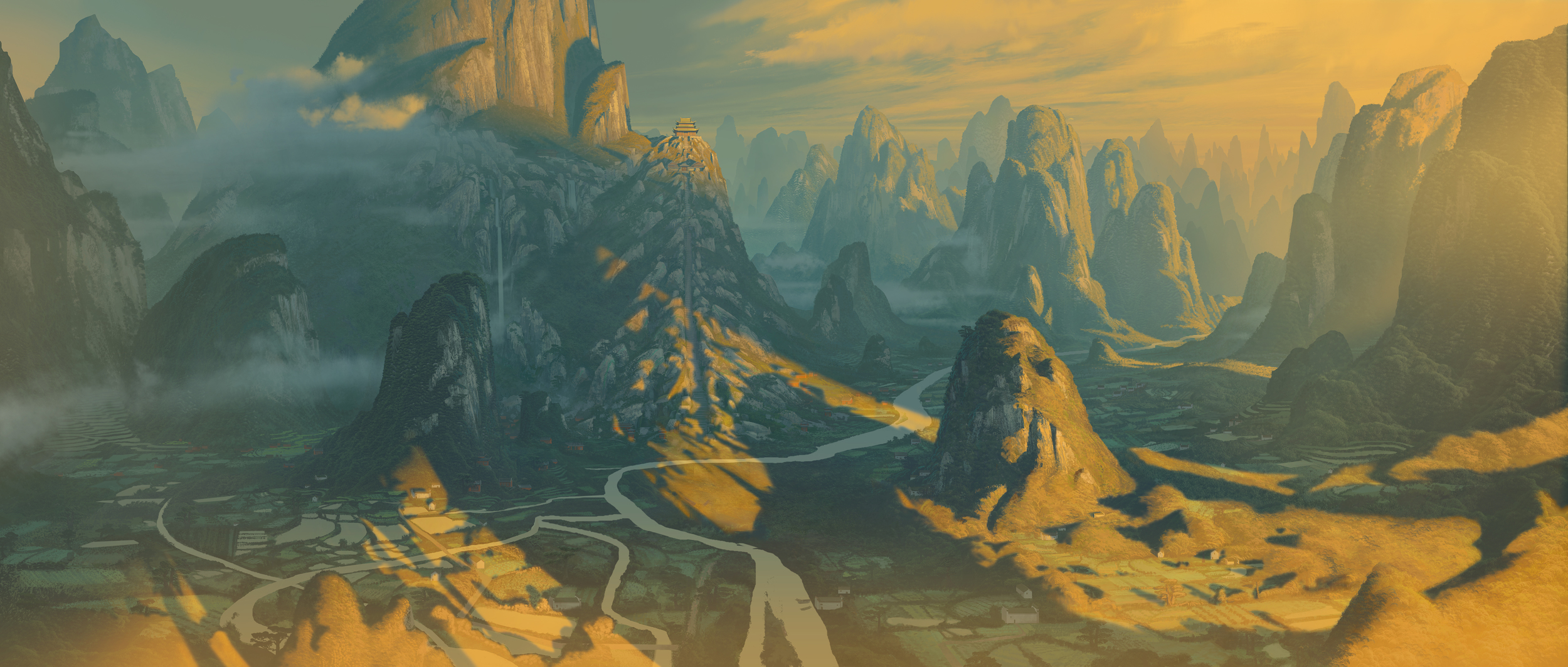 Kung Fu Panda, DWA Valley of Peace - Matte painting