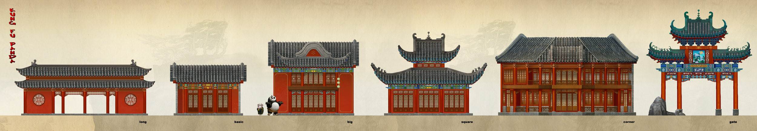 Kung Fu Panda, DWA Valley of Peace - Building design