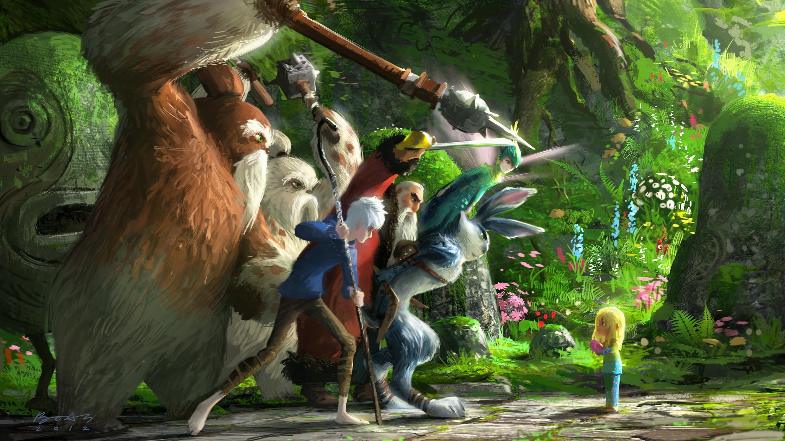 Rise of The Guardians, DWA Color key - Bunnymund location