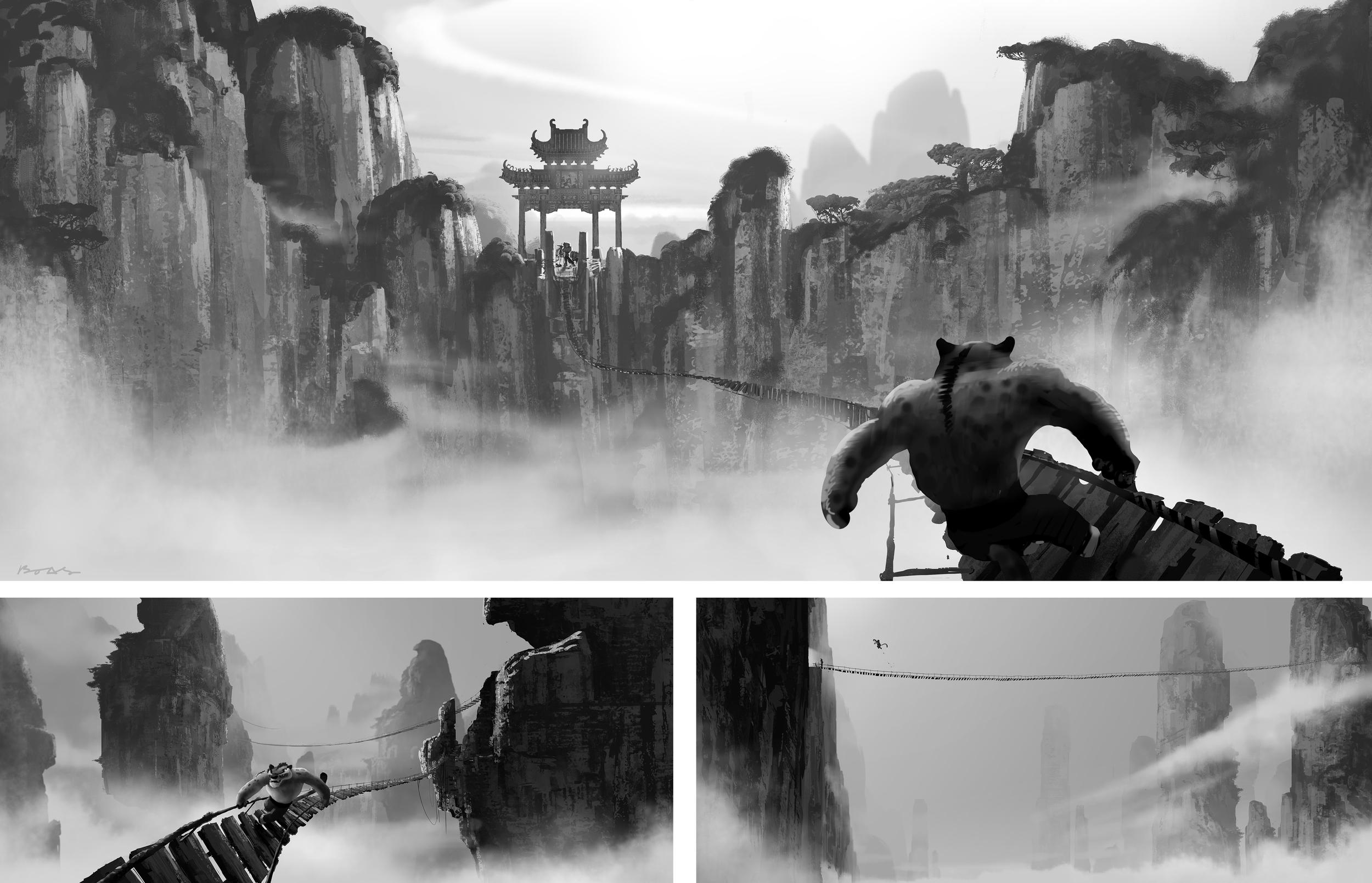 Kung Fu Panda, DWA Bridge set environment design
