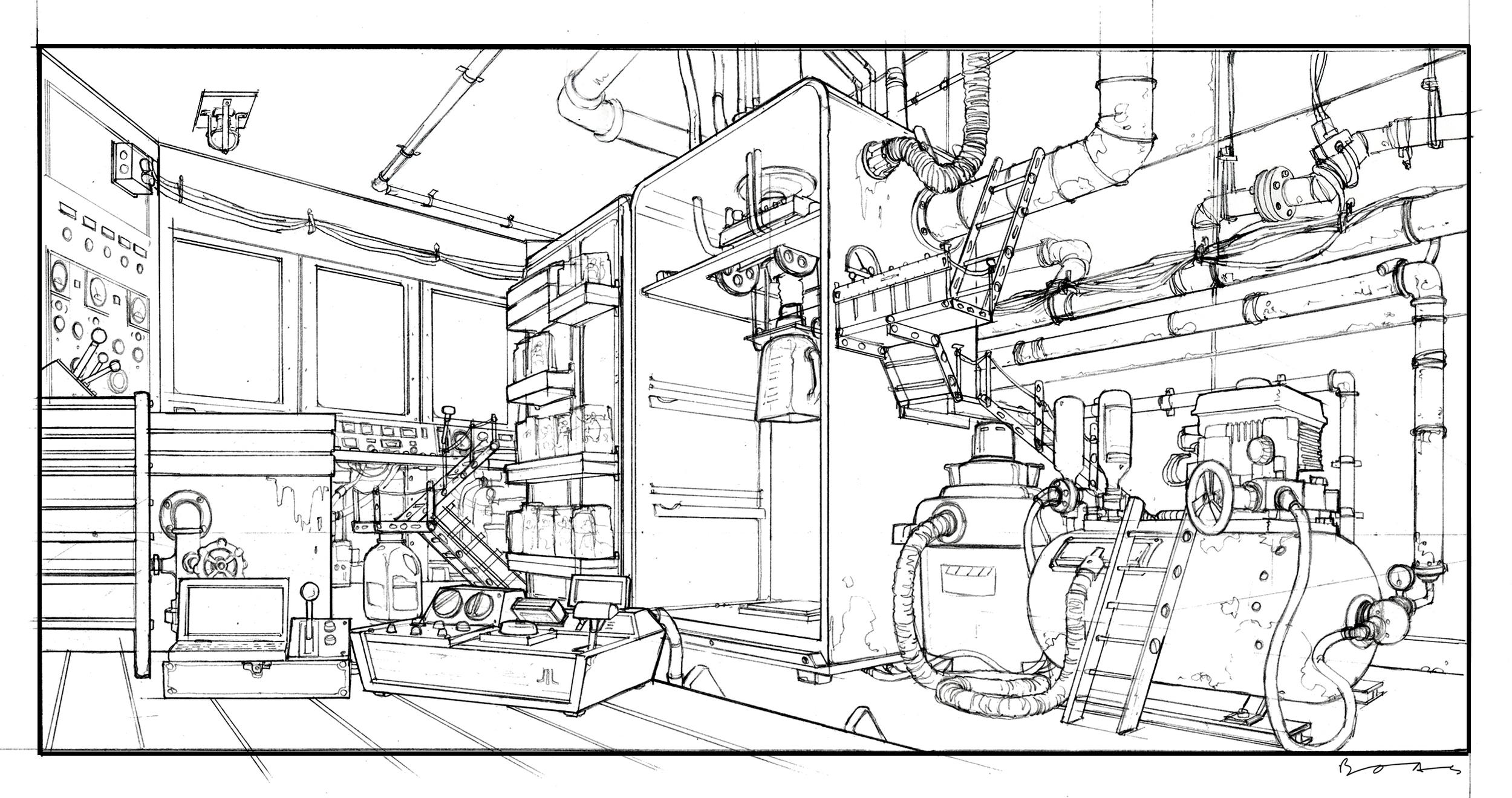 Flushed Away, DWA Control room design