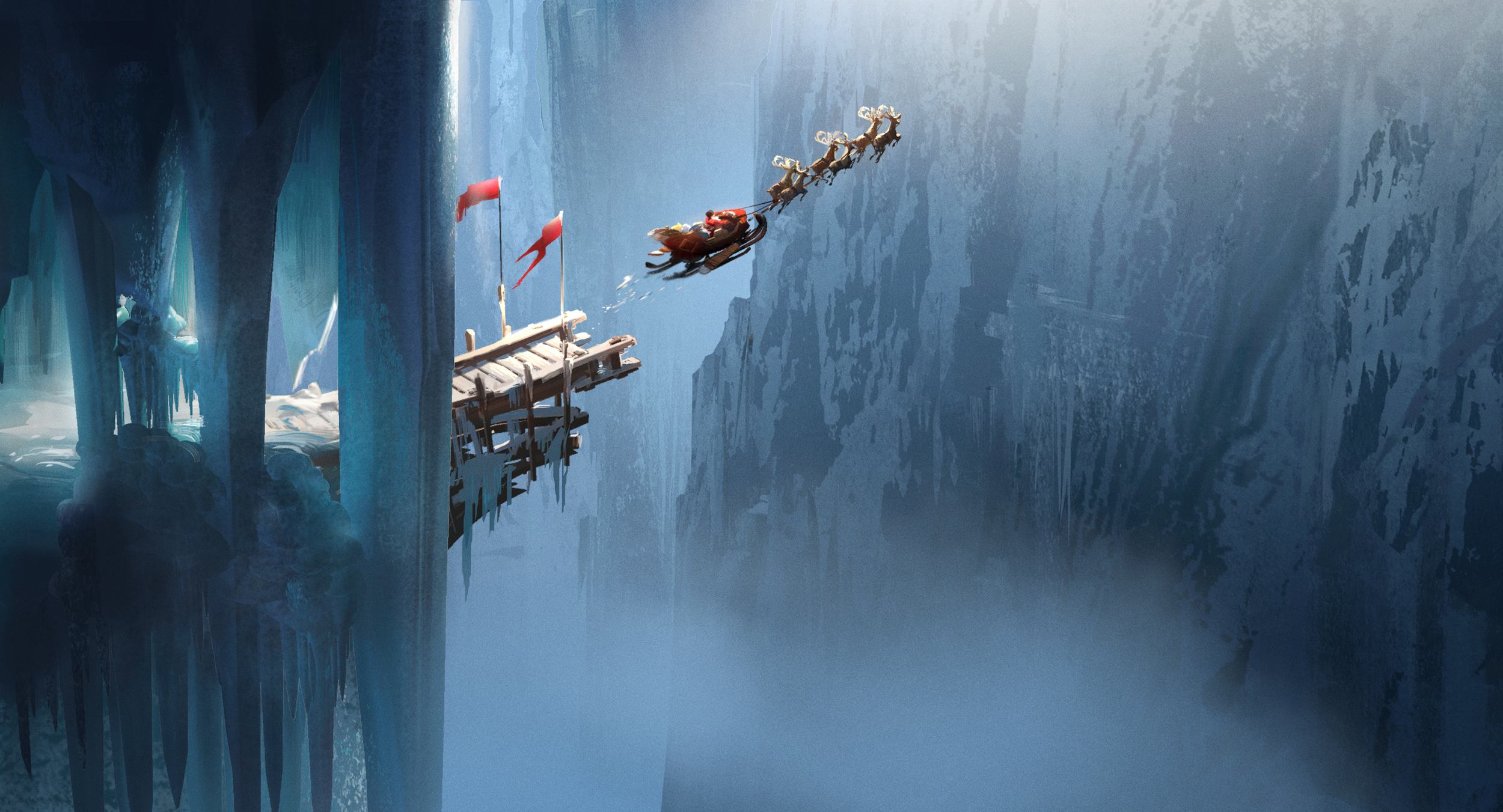 Rise of The Guardians, DWA Concept painting - North pole location
