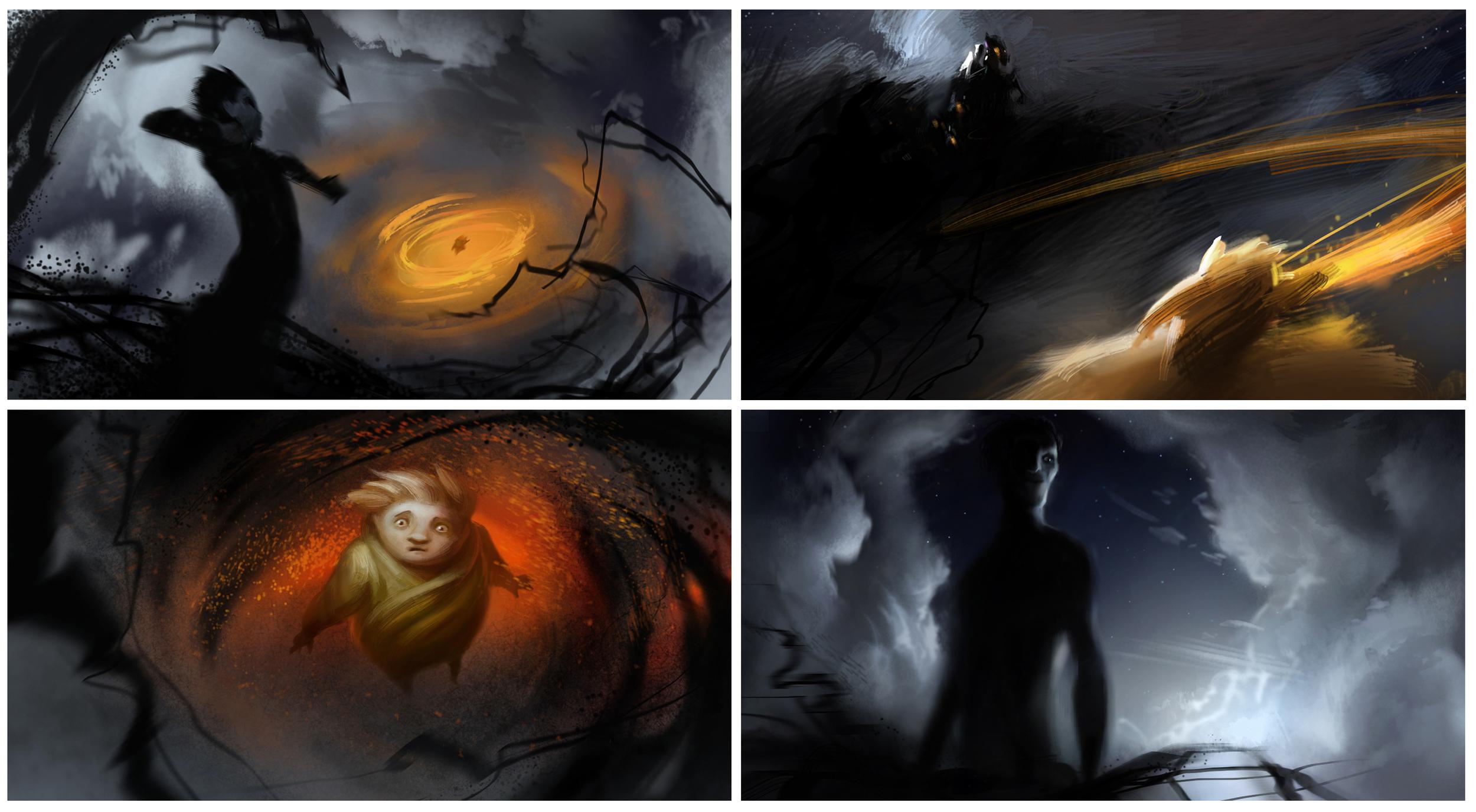 Rise of The Guardians, DWA Color keys - Sandman & Pitch battle