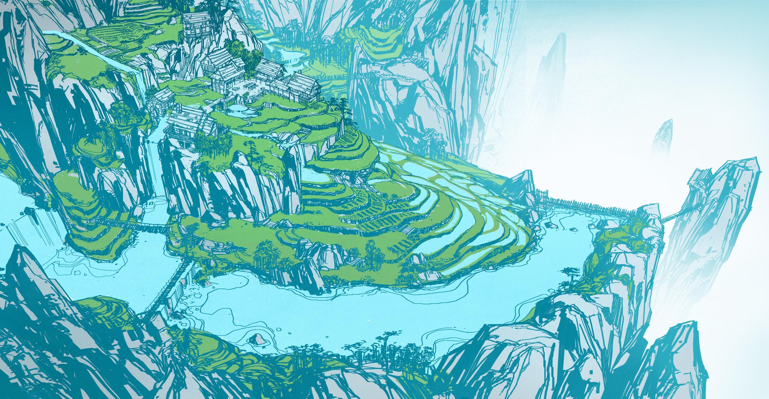 Kung Fu Panda 3, DWA Panda Village design