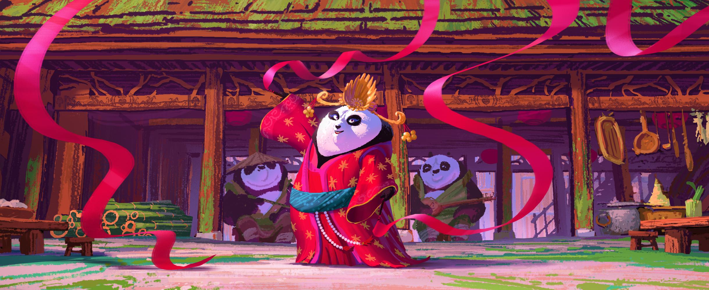 Kung Fu Panda 3, DWA Color key