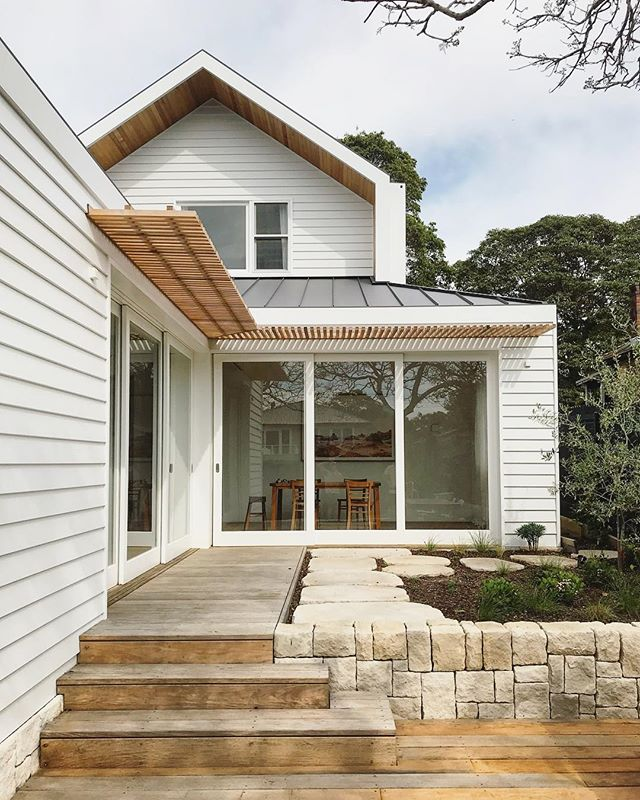 Great to see our recently completed Balgowlah custom home again today with the landscaping complete and coming to life after all this rain!