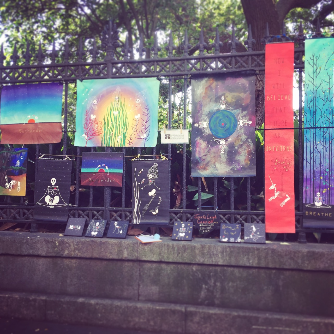 Jackson Square Display of Jenelle Leigh Campion's artwork