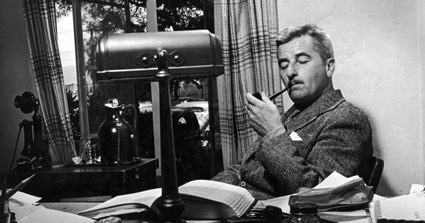 William Faulkner at work.