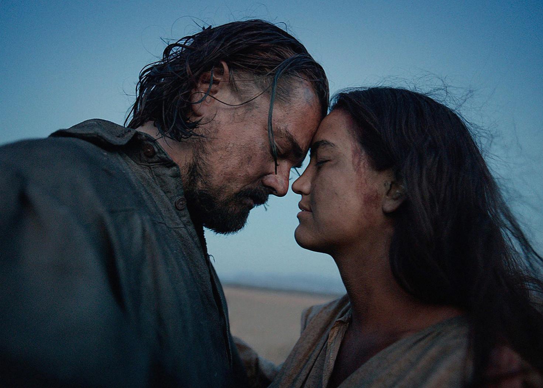 "Leonardo DiCaprio and Grave Dove in  "" The Revenant"""