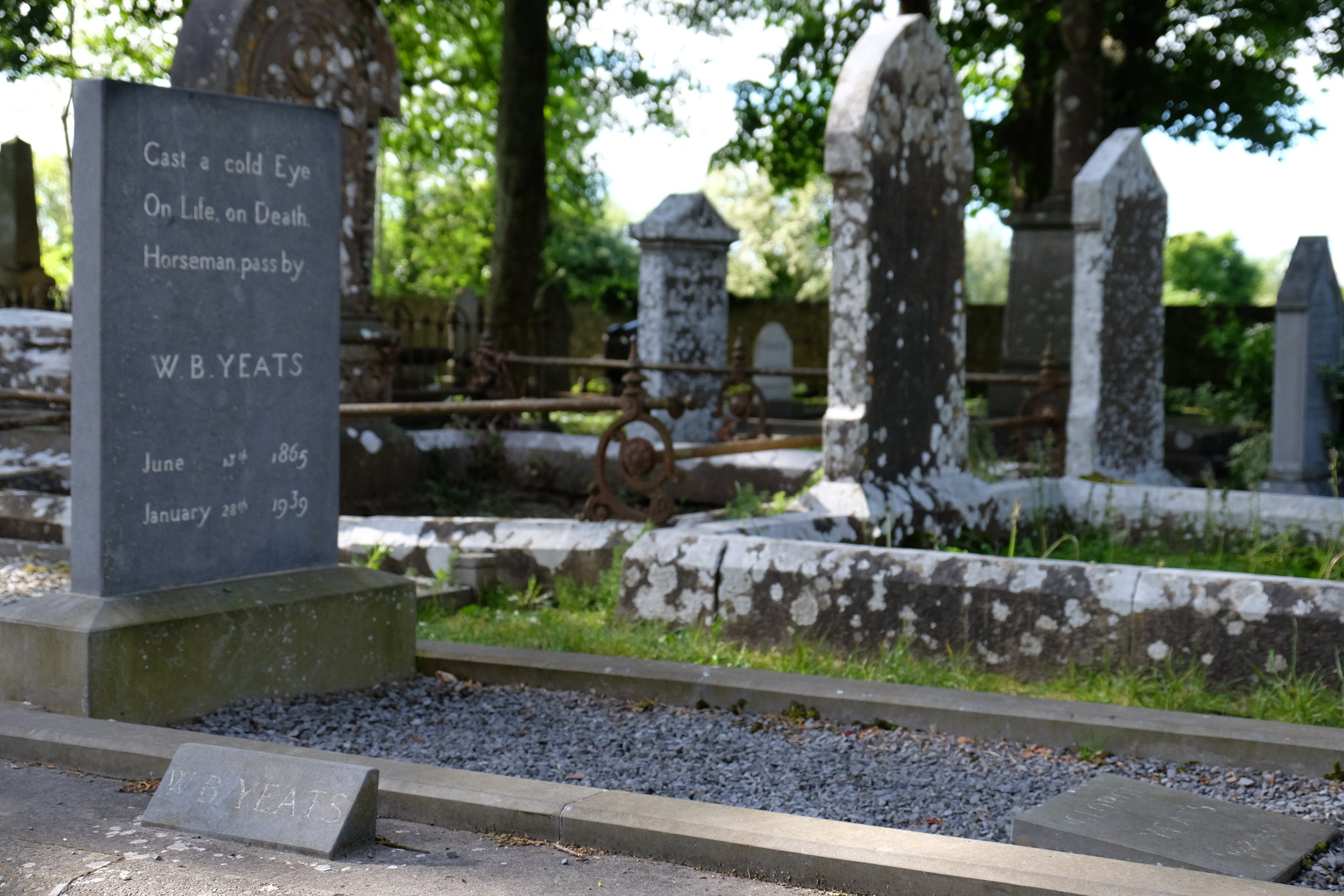 The grave of W.B. Yeats in Drumcliff, County Silgo.