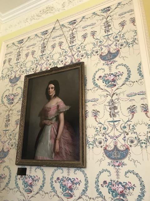 Portrait Margret Henry hanging in Kylemore Castle.