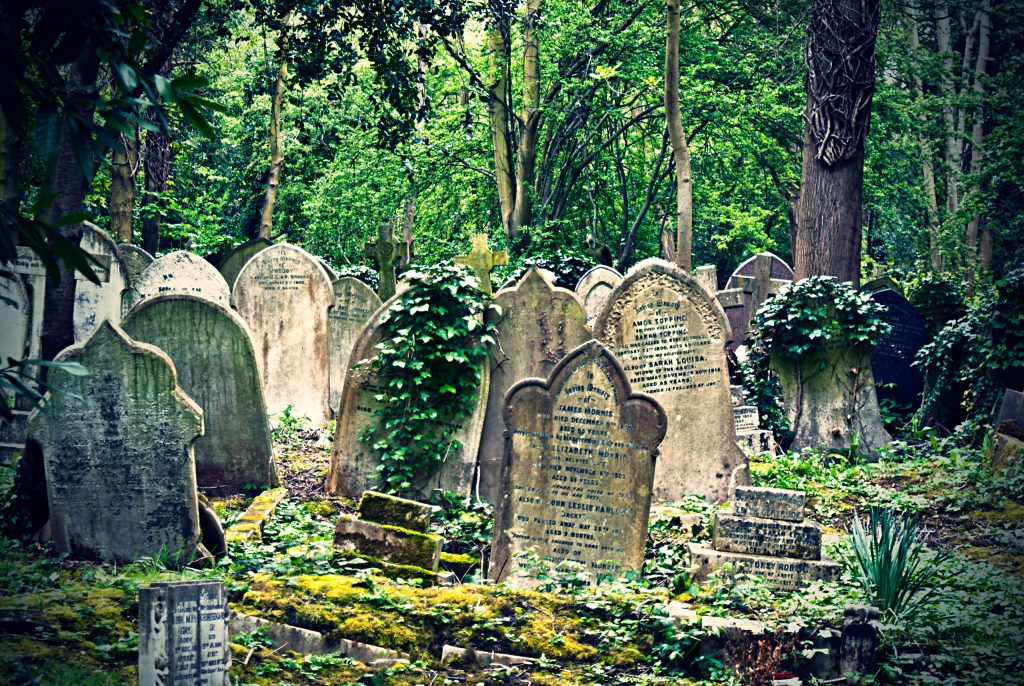 Highgate Cemetery . London, England.
