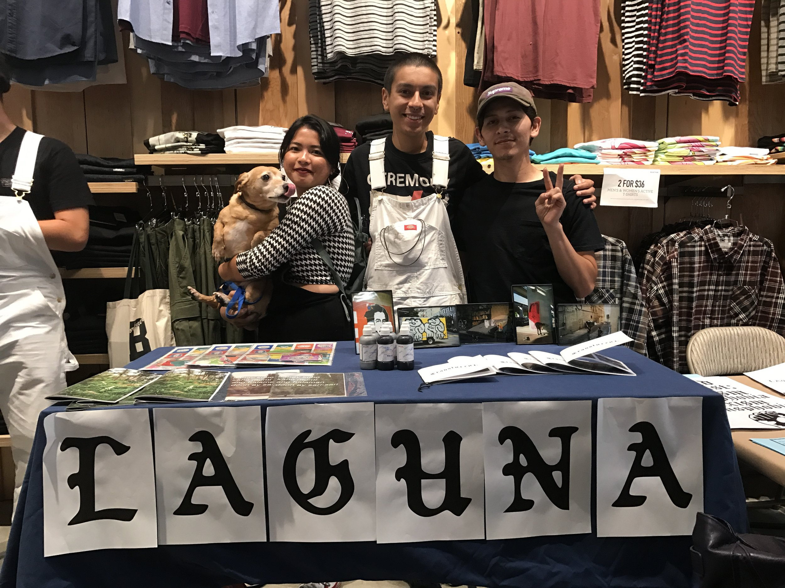 Our first time tabling as Laguna Collective at Active store in Fresno.