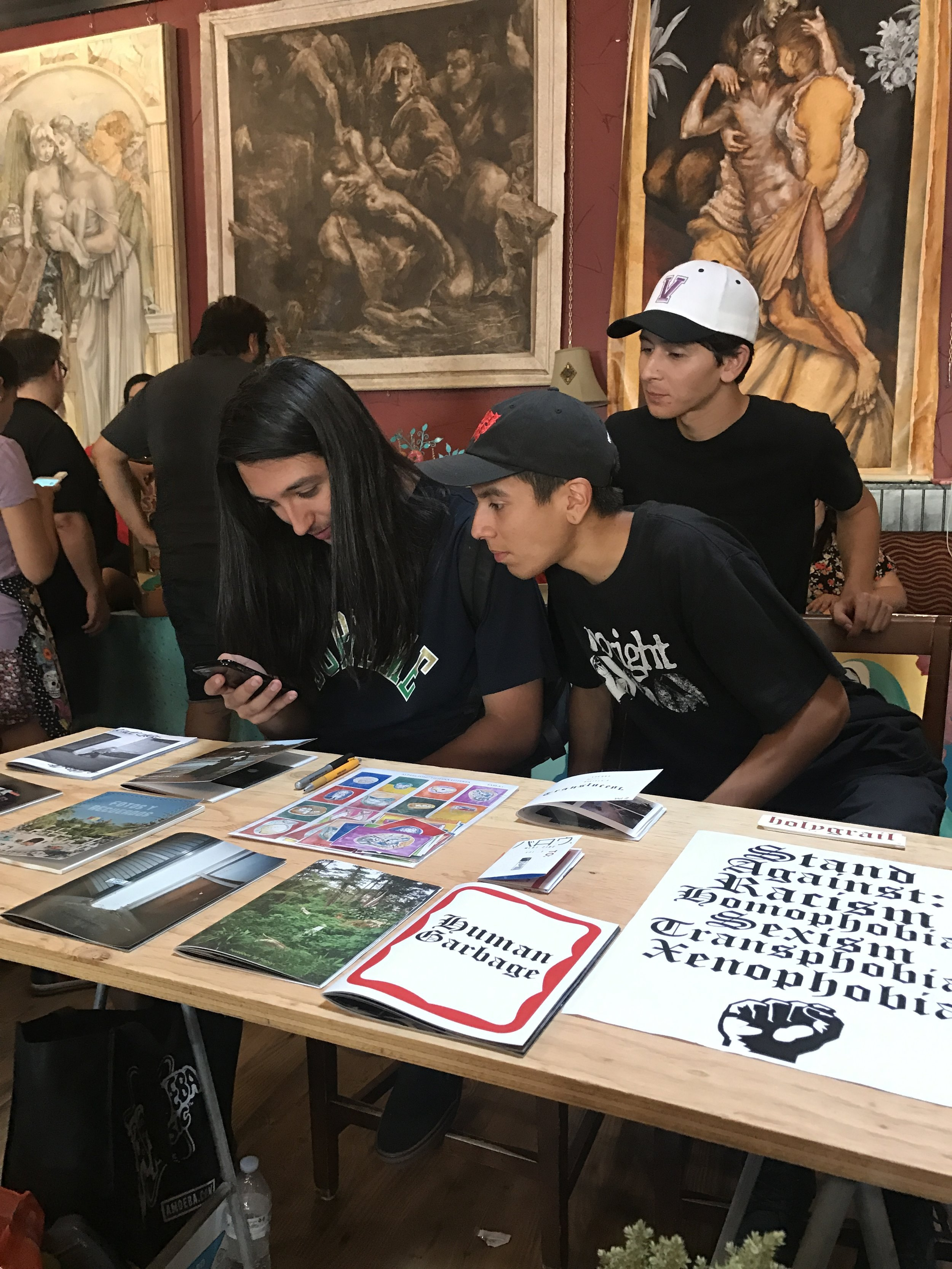 Fresno Zine Fair 2017 featuring our friend Alvino of Holygrail.