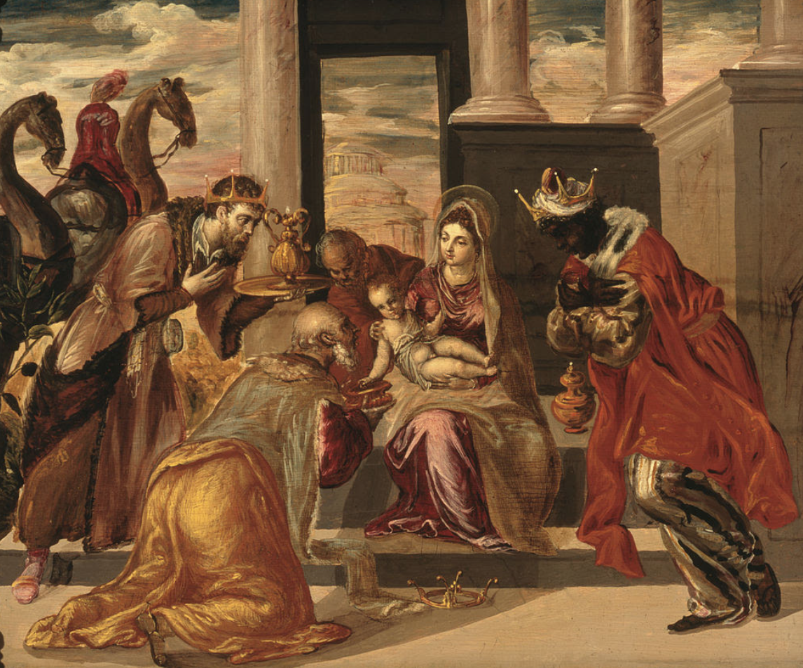 El Greco's Adoración de los Reyes Magos (1568)