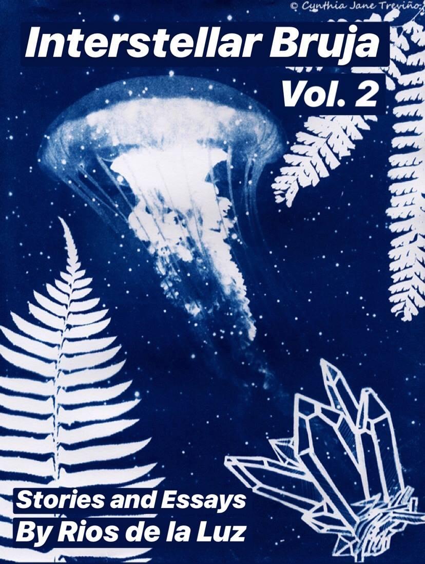 "Via de la Luz. Cover art is ""Medusa Galáctica"" by Cynthia Treviño"