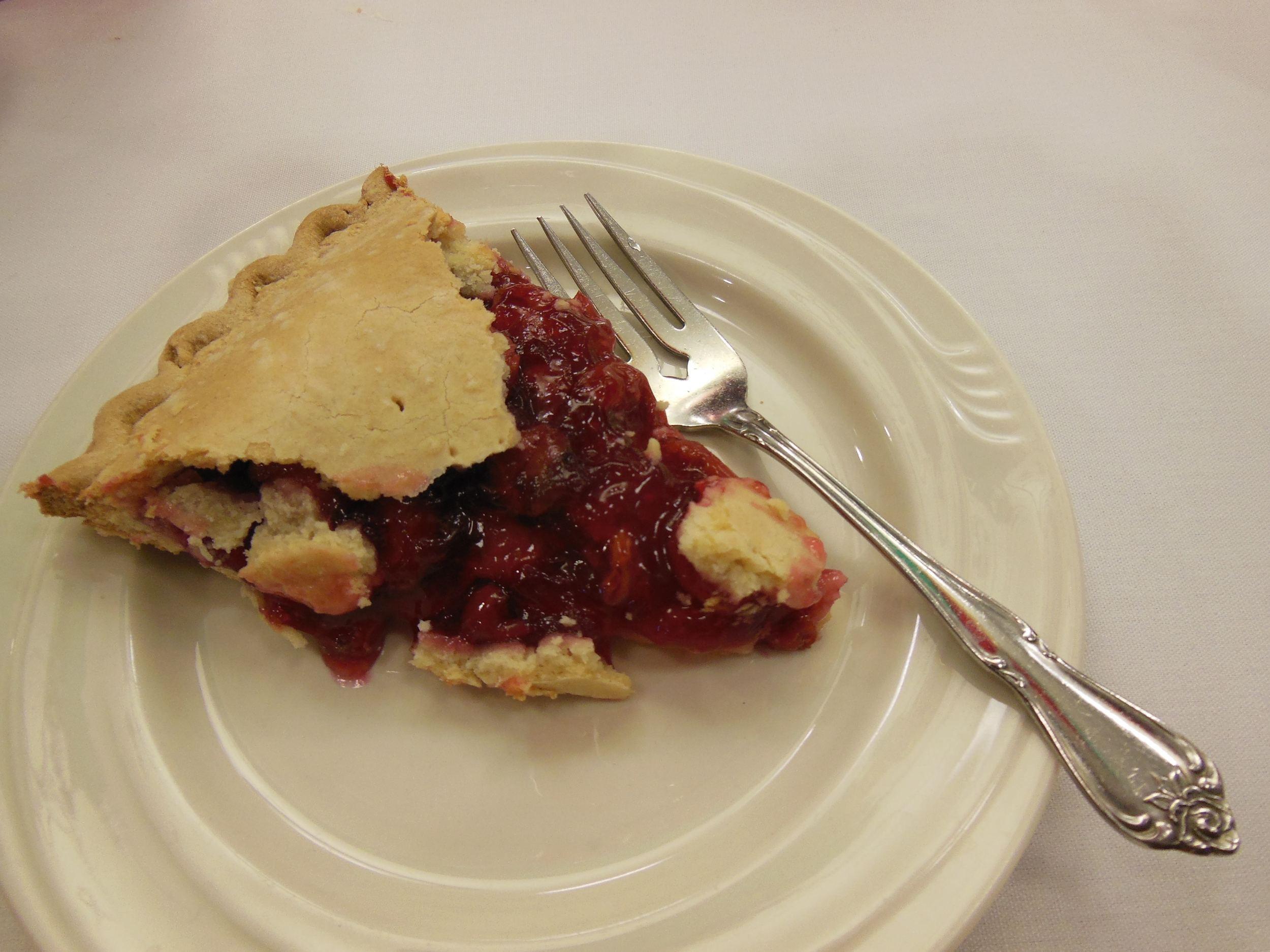 SUGAR FREE CHERRY PIE BEING Taste tested against a regular cherry pie.