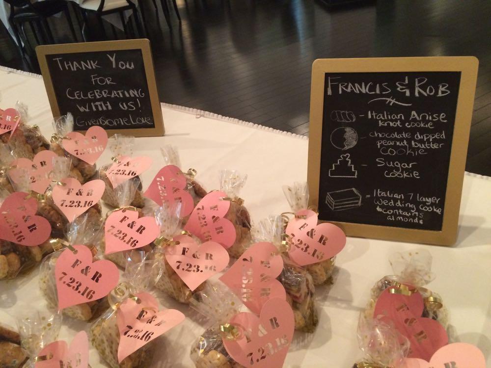 Wedding Gift cookies July 23, 2016 in Kansas City.