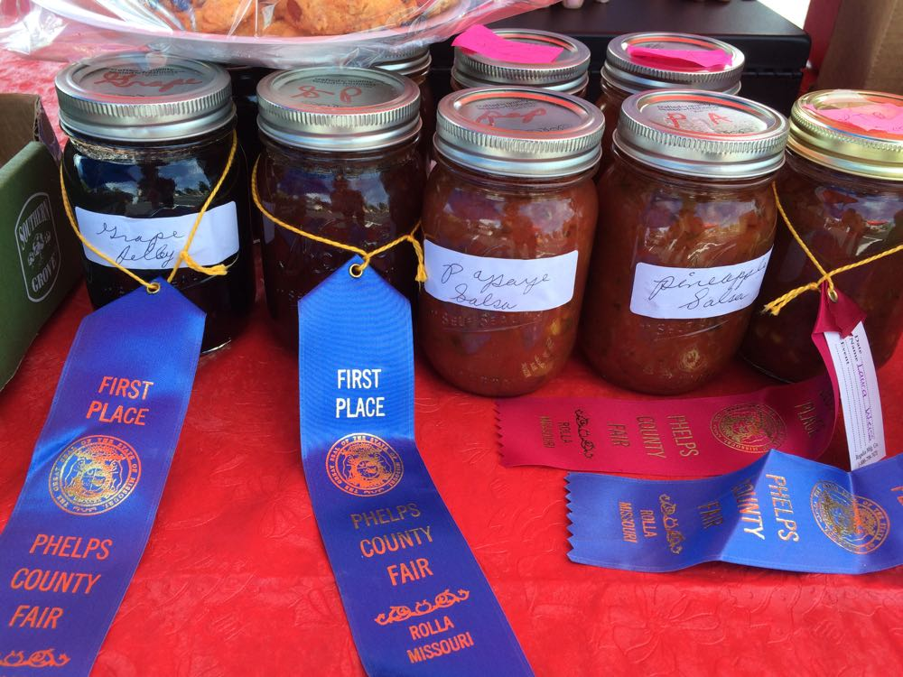 More of Laura's award-winning jars from the 2016 Phelps County Fair.