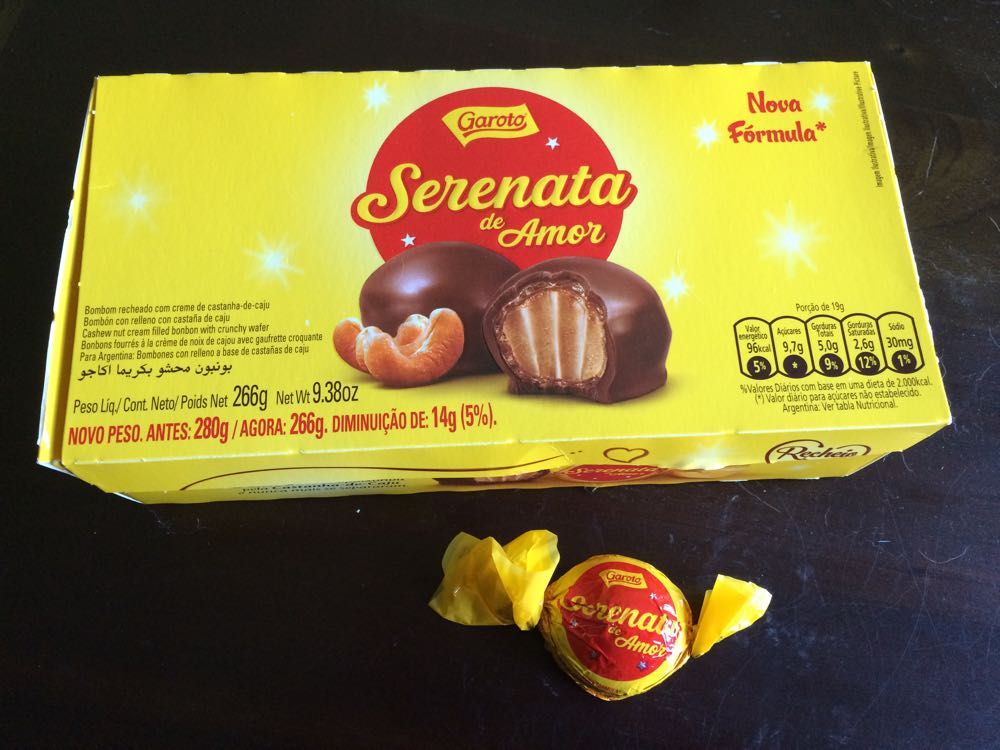 Serenate de Amor bon bons are made in Vitoria, Espirito Santo, Brazil, where I grew up.