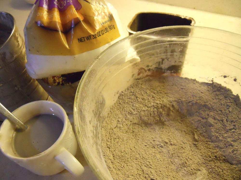 My first batch of homemade hot cocoa mix being tested. It passed inspection with flying colors.