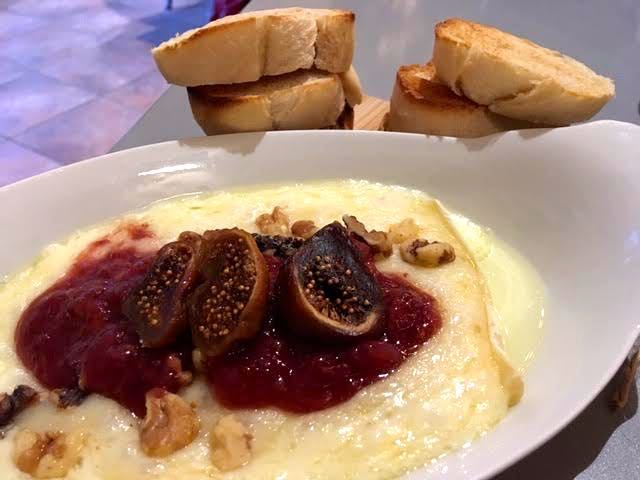 Baked Brie with strawberries, walnuts and figs. (Photo by Charlotte Ekker Wiggins)
