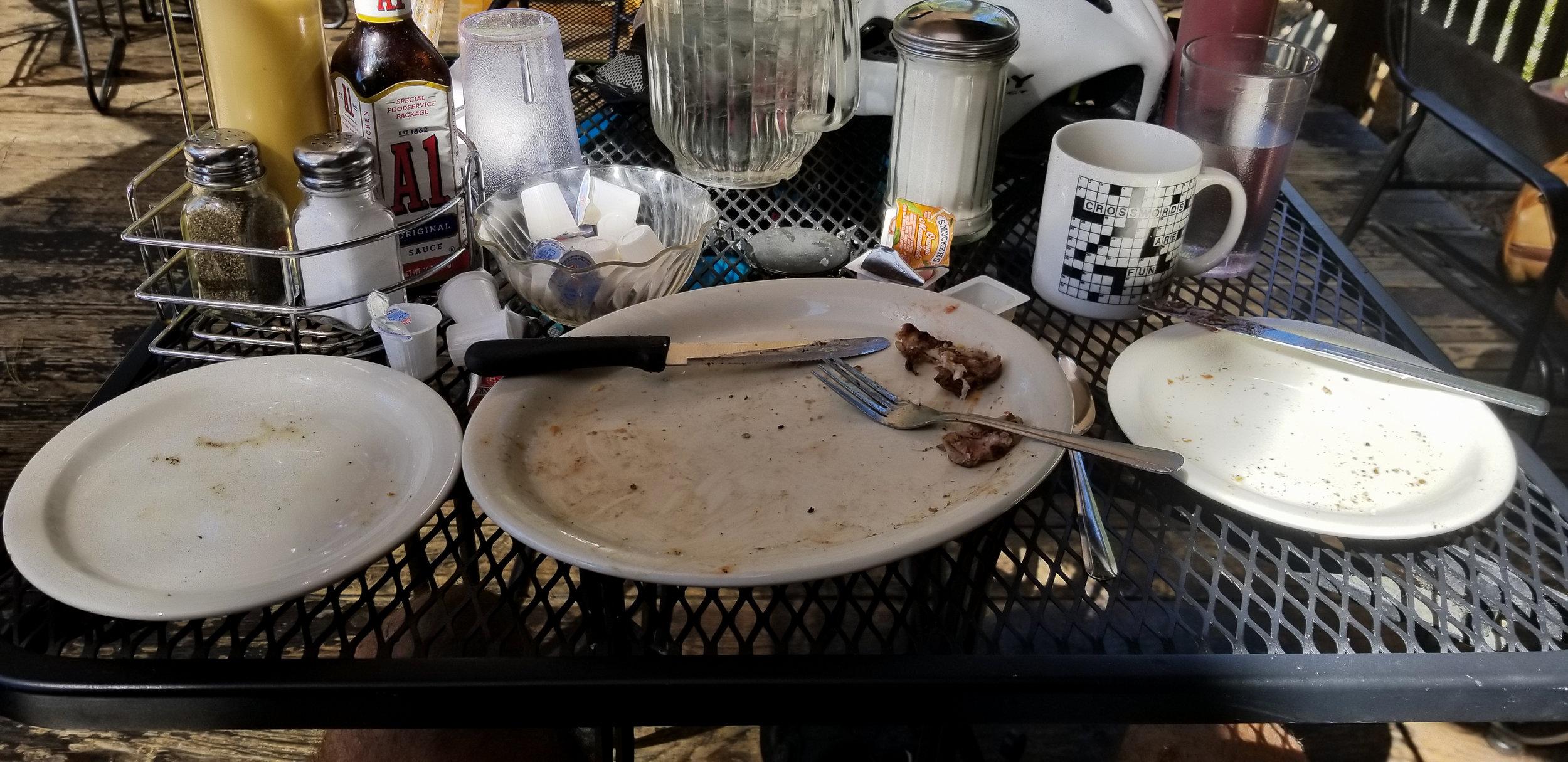 Umm no more breakfast!!! Gone!