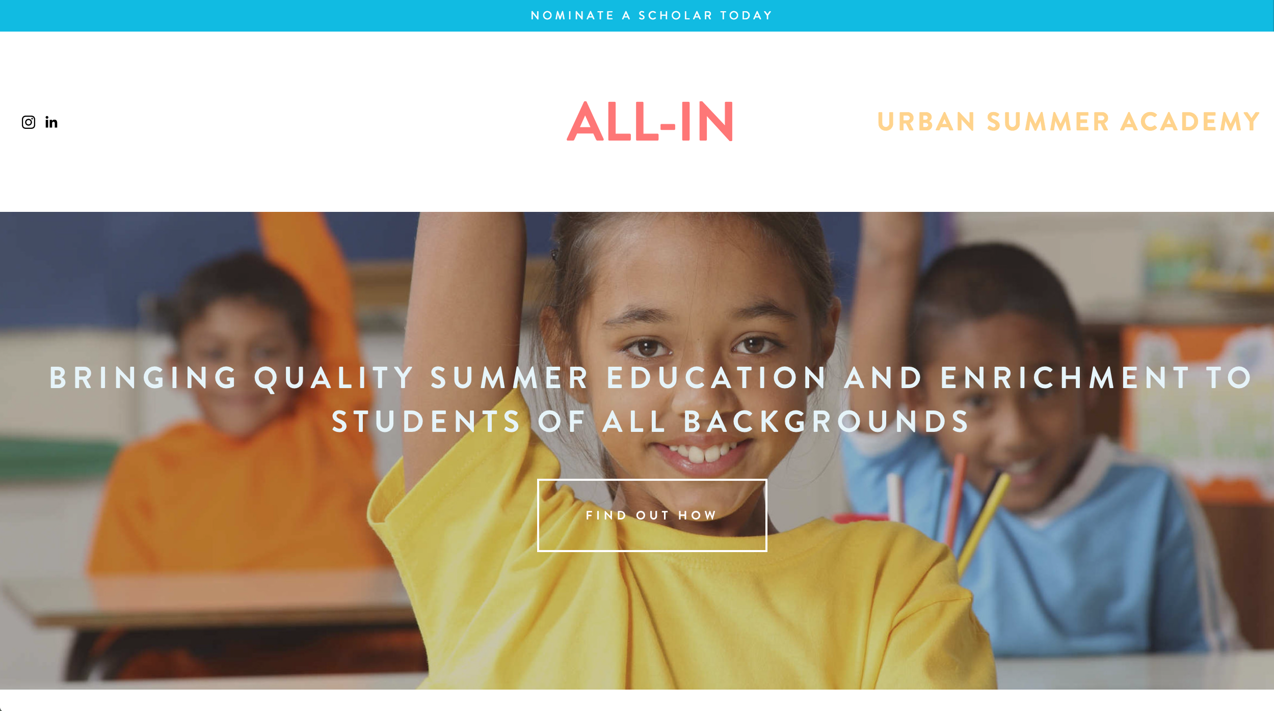 All-In Urban Summer Academy
