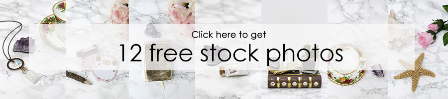 Get 12 free stock photos for your blog now!