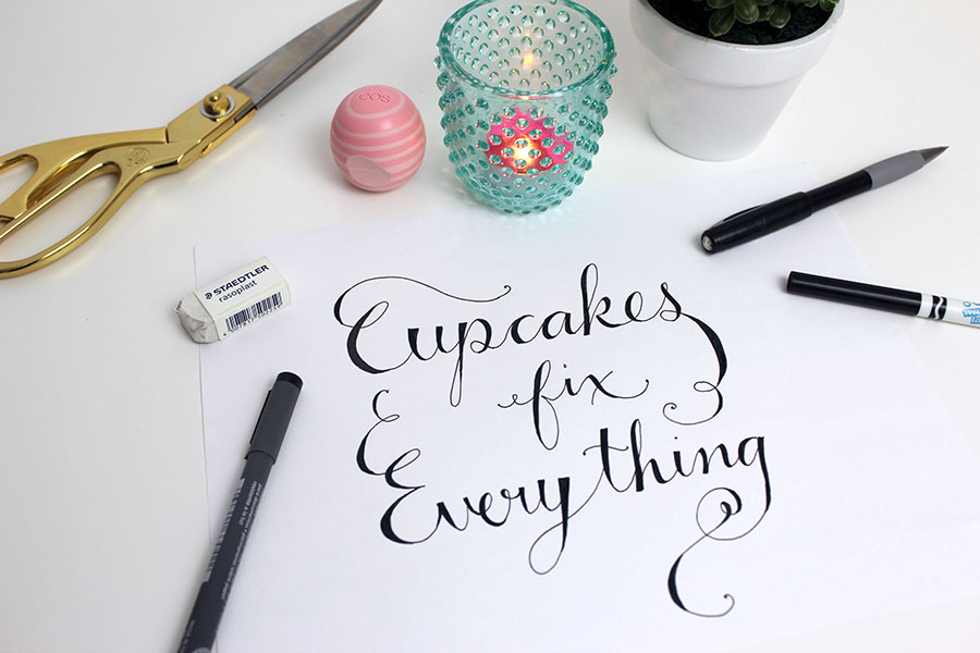 Easy hand lettering technique.