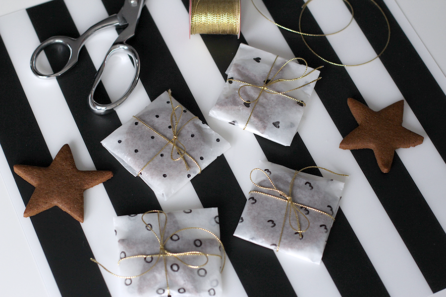 Easy cookie gift wrap.
