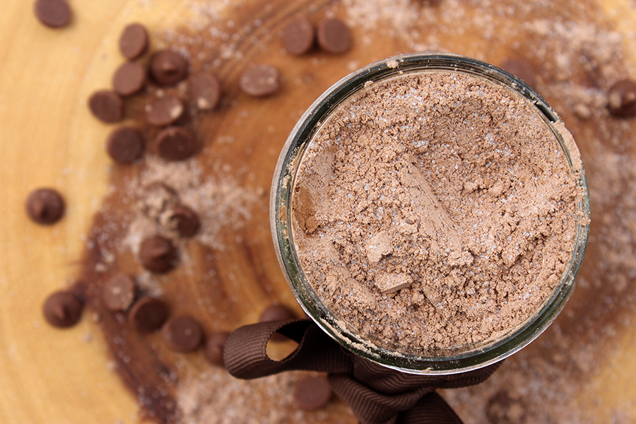 Quick and easy homemade chocolate pudding mix.