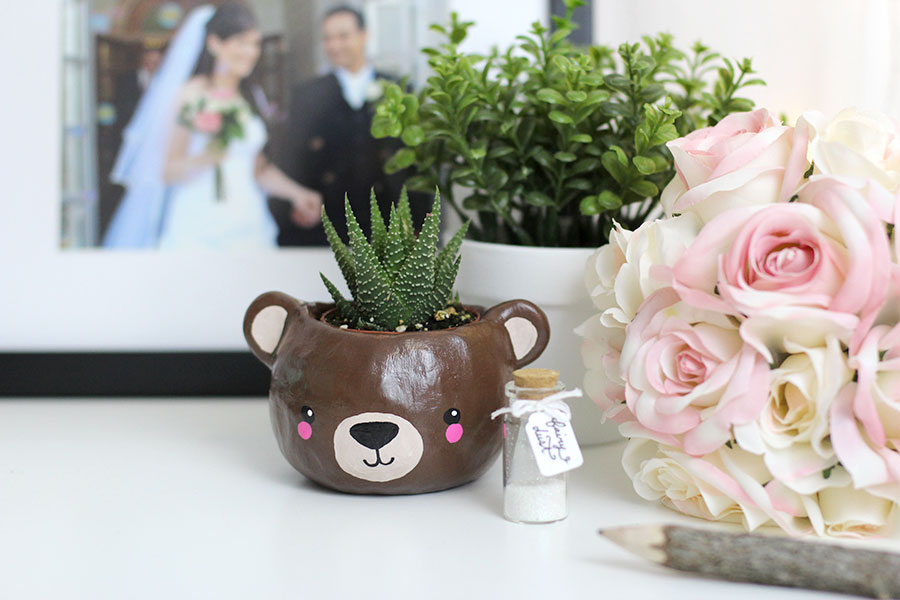 Super cute animal head planter.