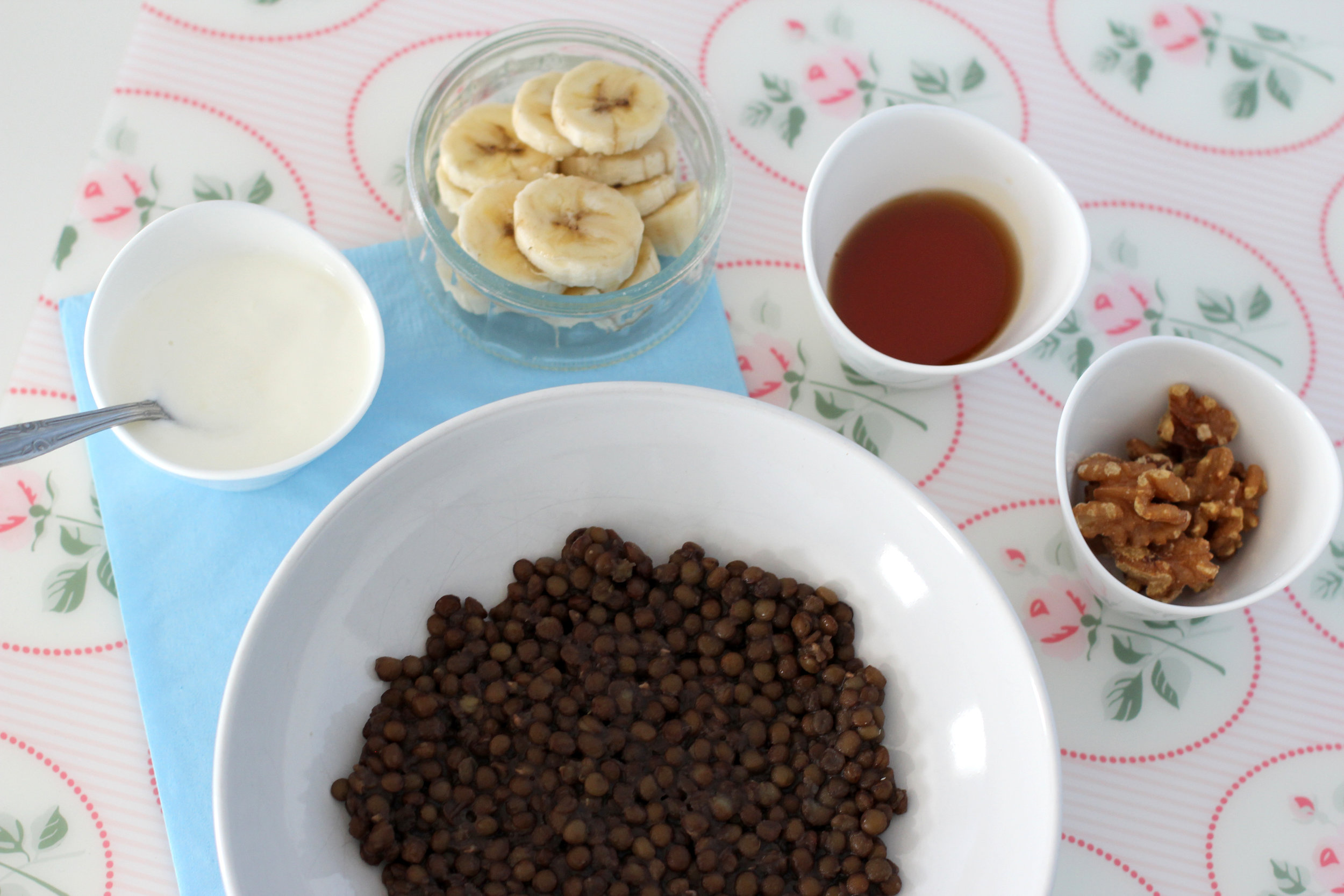 maple banana nut breakfast lentils recipe ingredients.jpg