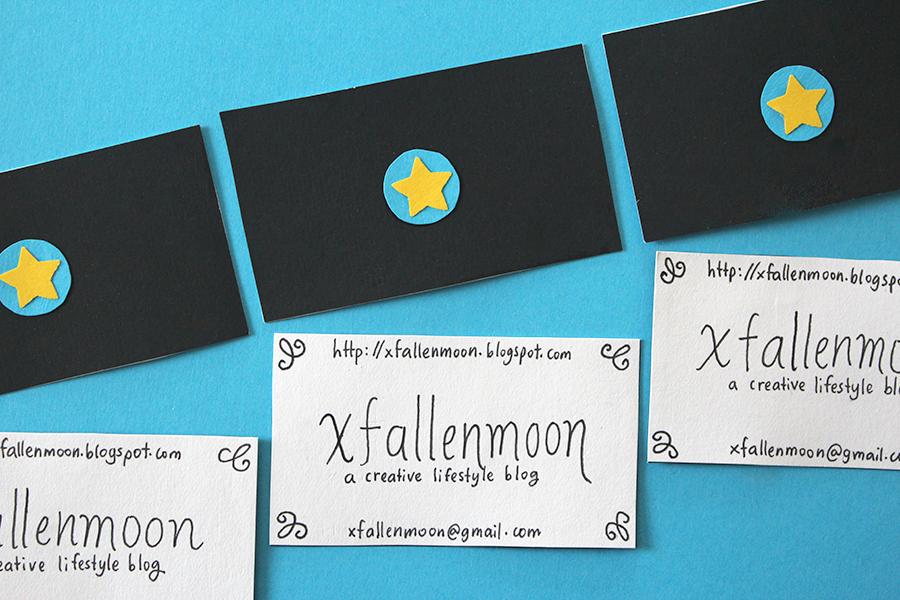 diy business card display xfallenmoon julie claveau.png
