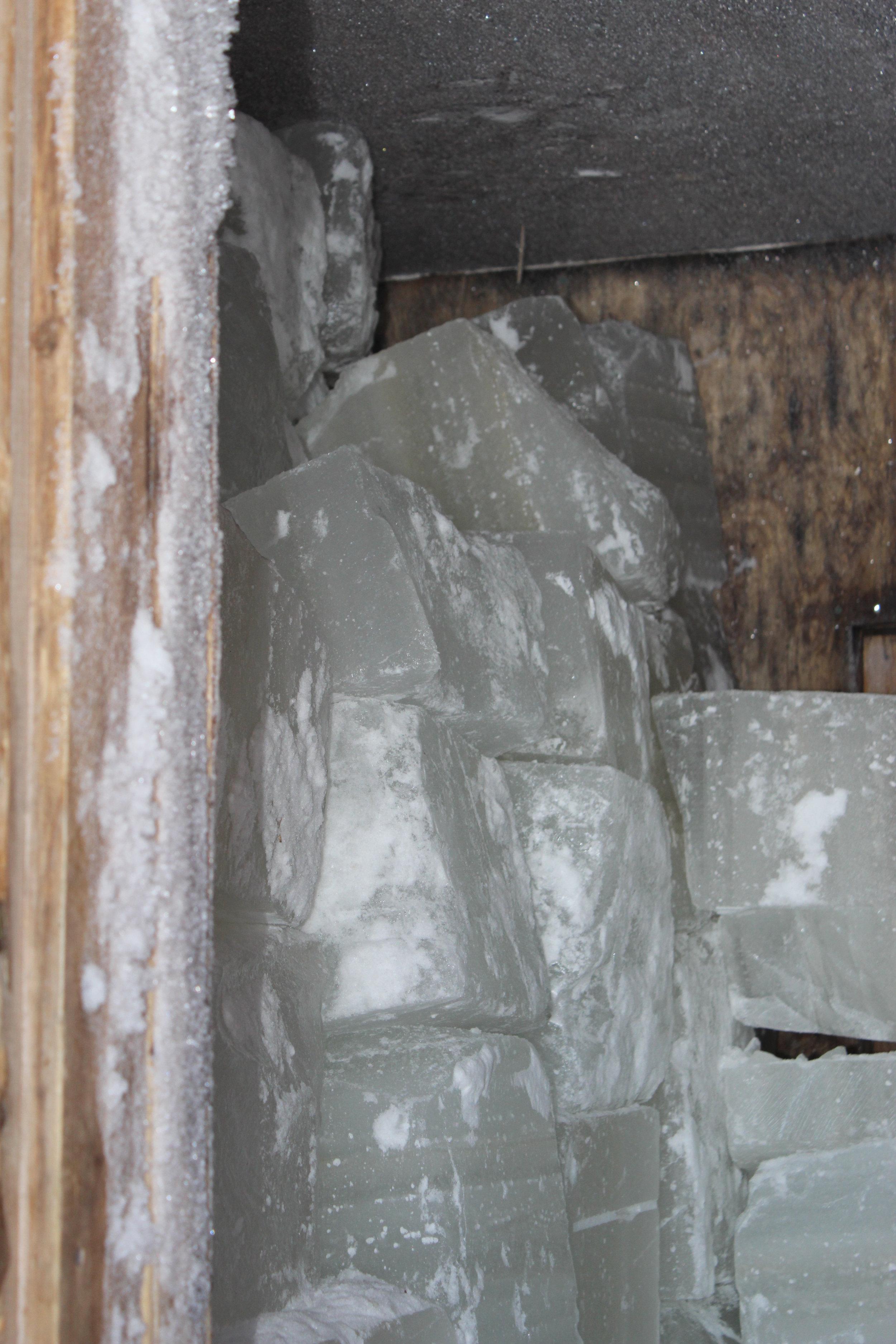 ice inside old style ice house.JPG