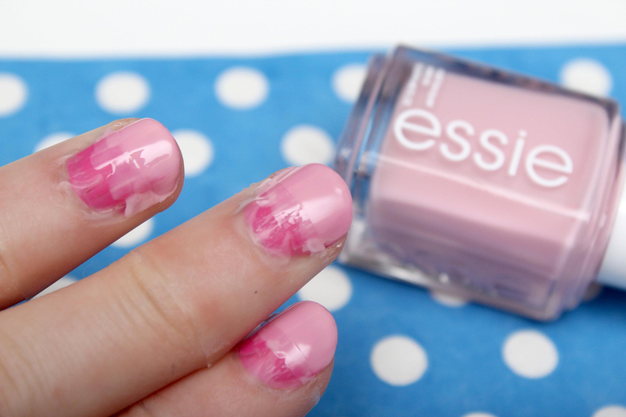 pink geometric nail art step 2.jpg