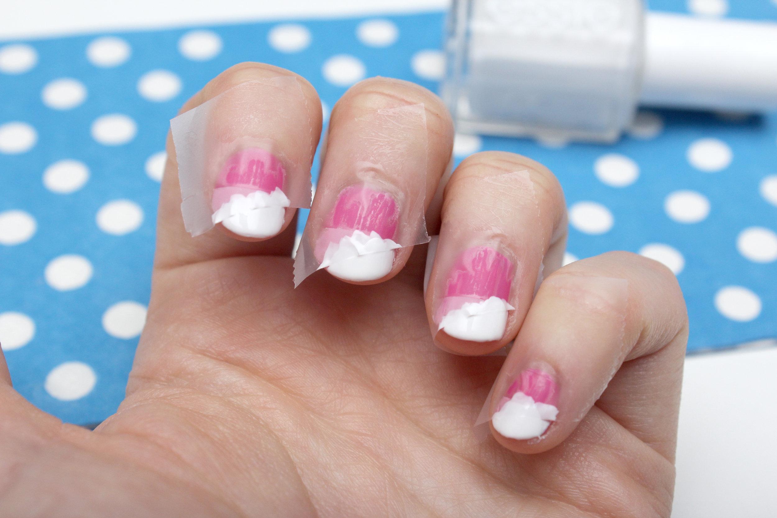 pink geometric nail art step 3.jpg