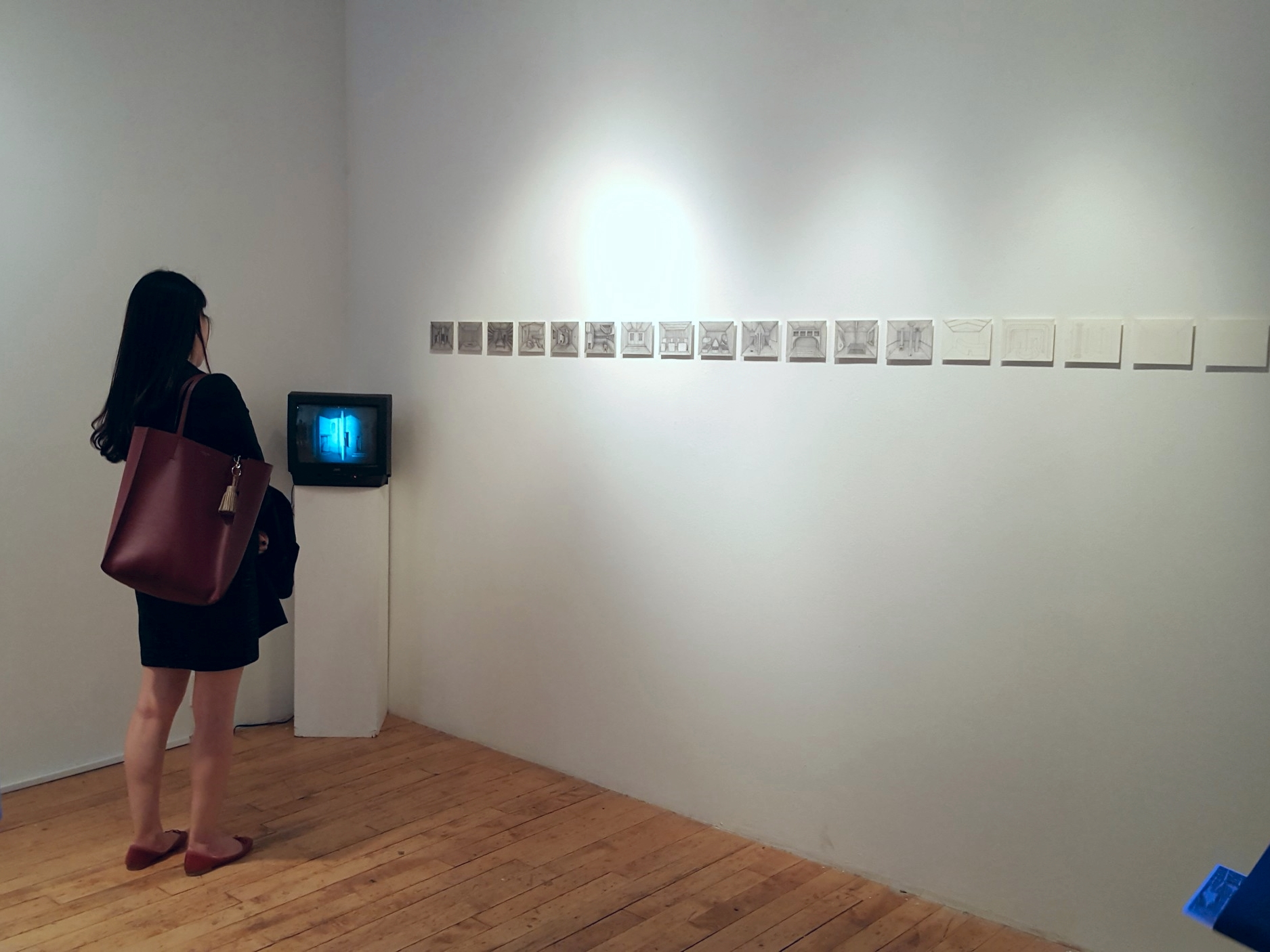 Buhm Hong's work in the exhibition  Spatial Visions , Art Mora Gallery, Chelsea, NYC.