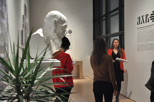 """At the guided tour """"Art and Communism: A Love-Hate Relationship"""" in the exhibition """"Specters of Communism: Contemporary Russian Art"""" at The James Gallery, The Graduate Center, CUNY. Thanks to Jennifer Wilkinson."""