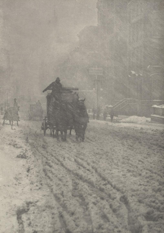 Alfred Stieglitz (American, 1864–1946).  Winter, Fifth Avenue.  1893.