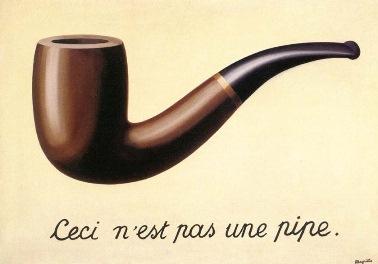 René Magritte (Belgian; 1898 – 1967).  The Treachery of Images  (1928-1929).