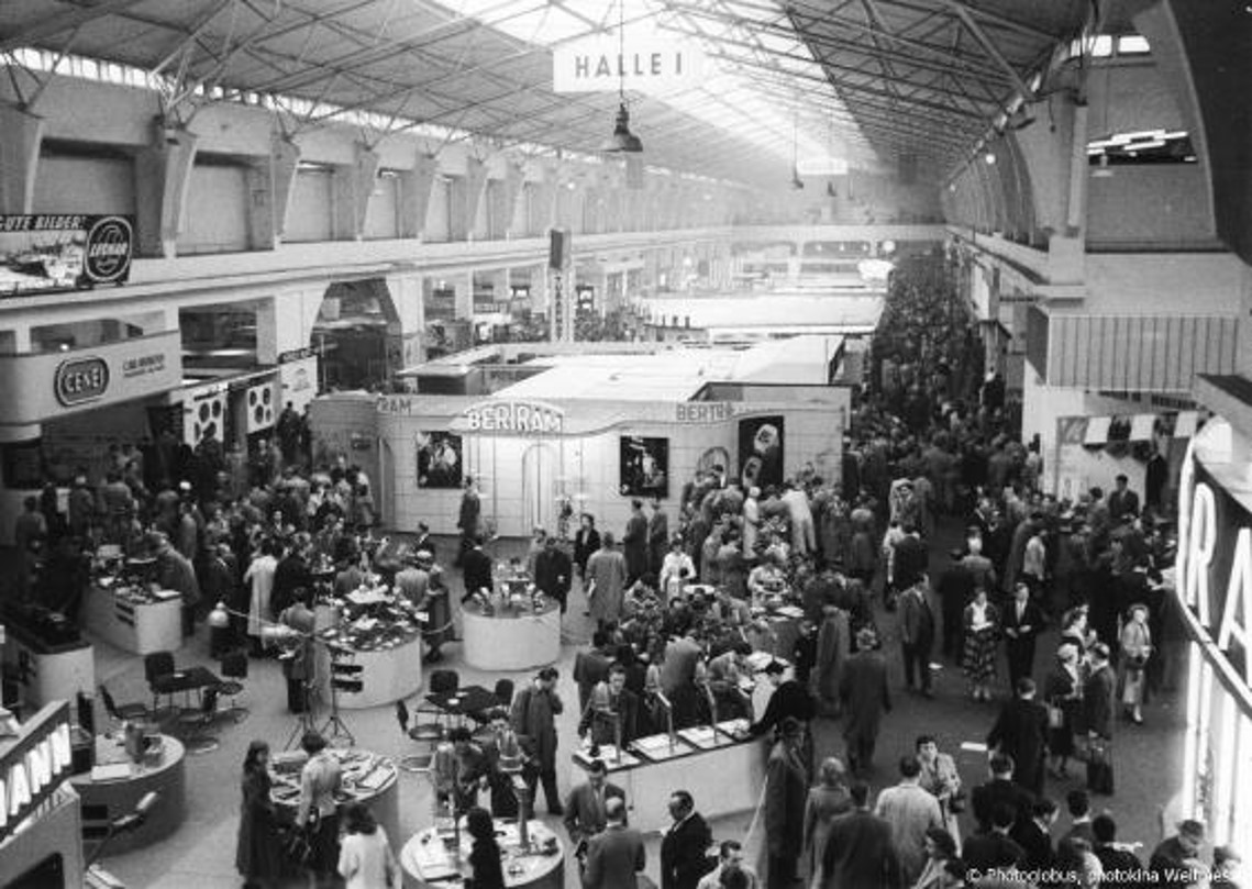 Trade fair section of  Photokina 1956 , Cologne.