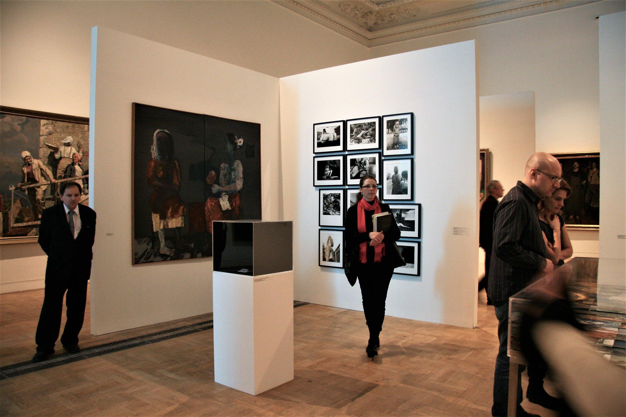 At the exhibition  Gender Check  at the Zachęta National Gallery of Art, Warsaw. Photo: © Zenta Dzividzinska.