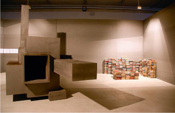 Kevin van Braak.  Books for Burning?  Object. 2009. Photo: © Alise Tifentale.