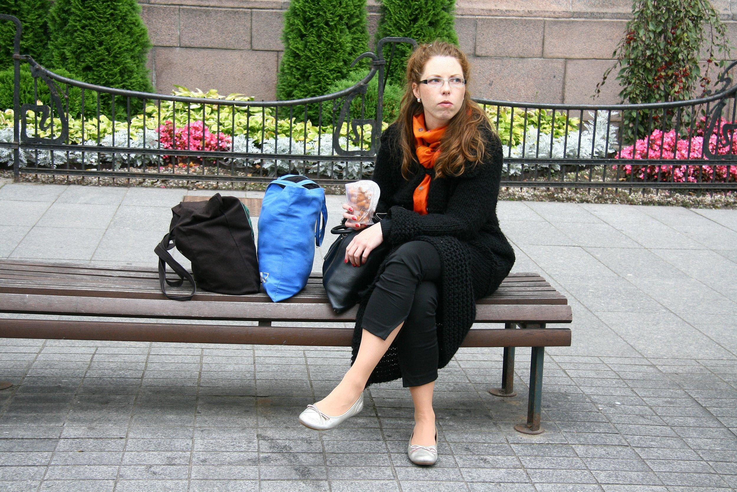 Contemplating the X Baltic Triennial of International Art in Vilnius. Photo: © Zenta Dzividzinska.