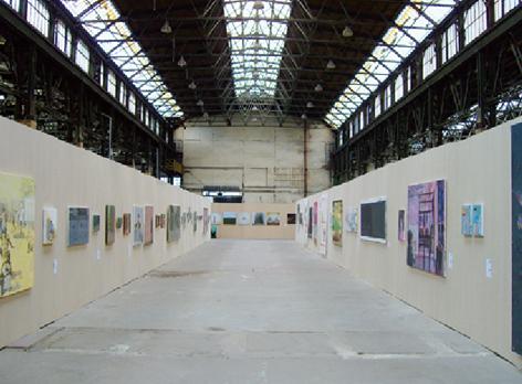 View of the exhibition hall, the 4th Prague Biennale. Photo: © Zenta Dzividzinska