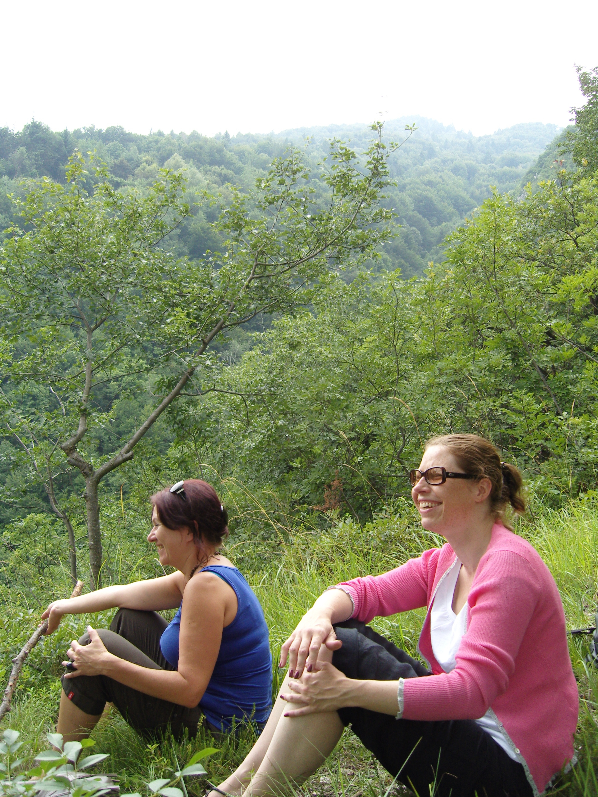 Hiking trip after the biennale with Solvita Krese (left).