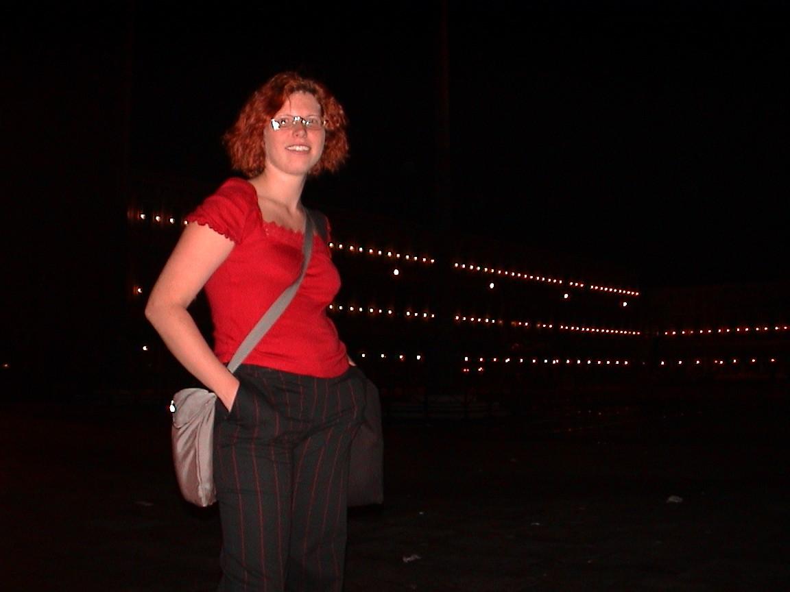 Art critic Alise Tifentale in Venice. 2002.